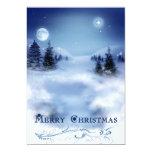 "Blue Christmas 5"" X 7"" Invitation Card"