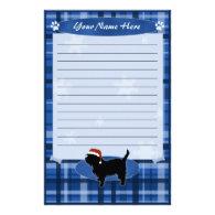 Blue Christmas Affenpinscher Stationery