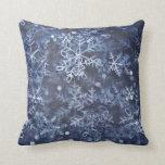 blue Christmas American MoJo Pillow