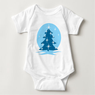 Blue Christmas Baby Creeper Holiday Classic Gift