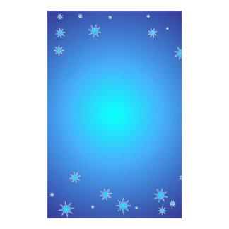 Blue Christmas Background Stationery