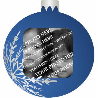 Blue Christmas Ball Frame Statuette