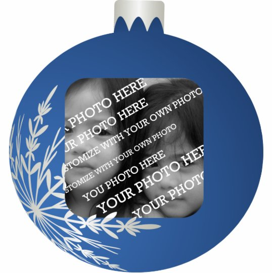 Blue Christmas Ball Frame Statuette