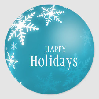 Blue Christmas Ball Snowflakes sticker