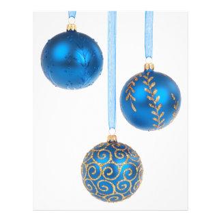 Blue Christmas baubles Full Color Flyer
