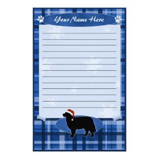 Blue Christmas Bernese Mountain Dog Stationery