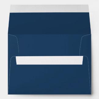 Blue Christmas Card Envelope w/ Return Address Envelopes