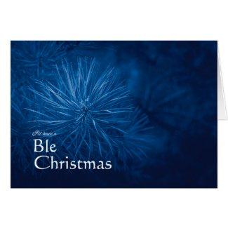 Blue Christmas Card Pun Puzzle