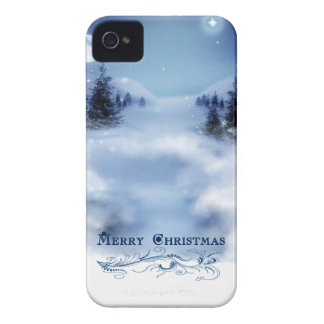 Blue Christmas iPhone 4 Cases