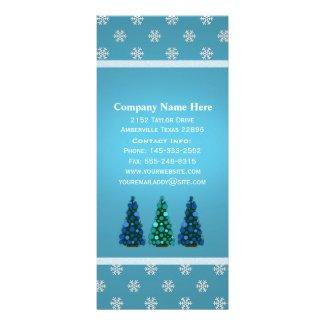 Blue Christmas: Christmas Tree Rack Cards