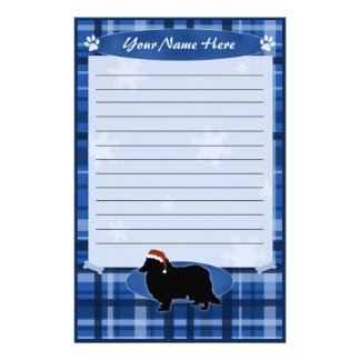 Blue Christmas Collie Stationery