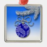 Blue Christmas Decoration Evergreen Tree Branch Christmas Tree Ornaments