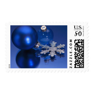 Blue Christmas decorations Postage
