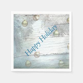 Blue Christmas Design Paper Napkins