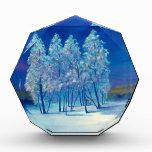 Blue Christmas Desk Paperweight Acrylic Award