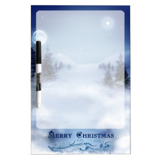 Blue Christmas Dry-Erase Board