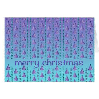 Blue Christmas Greetings Card