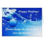 Blue Christmas/Holiday Card