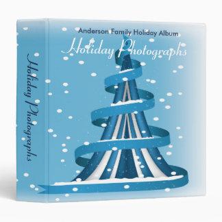 Blue Christmas Holiday Photographs Vinyl Binders