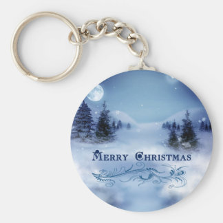 Blue Christmas Keychain