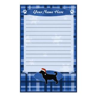 Blue Christmas Lancashire Heeler Stationery