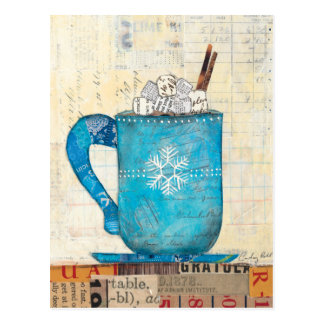 Blue Christmas Mug Postcard