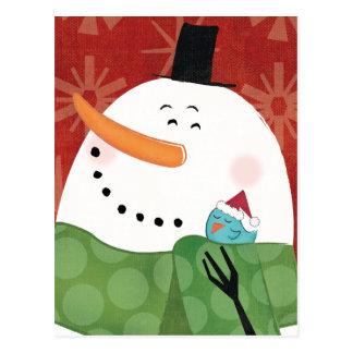 Blue Christmas Mug with Dark Cocoa Postcard