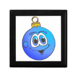 Blue Christmas Ornament Cartoon.png Jewelry Boxes