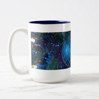 Blue Christmas Ornament Coffee Mugs