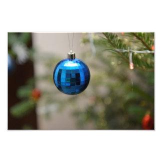 Blue Christmas ornament Photo