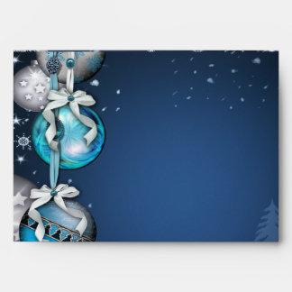 Blue Christmas Ornaments Blue Christmas Envelopes
