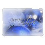 Blue Christmas Ornaments Merry Christmas iPad Mini Covers