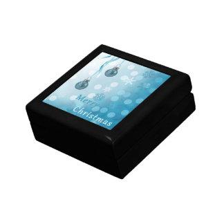 Blue Christmas Ornaments - Tile Gift Box