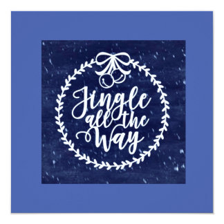 Blue Christmas Party Invitations