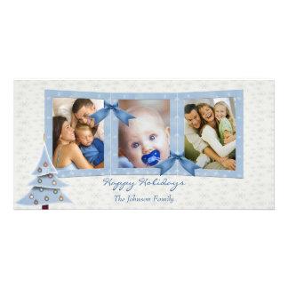 Blue Christmas Photo Card