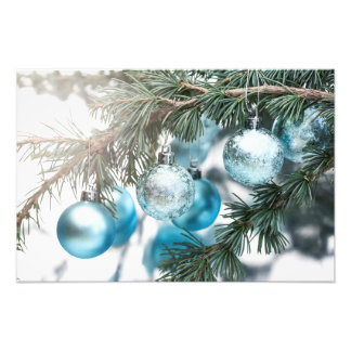 Blue Christmas Photo Print