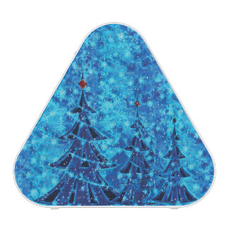 Blue Christmas Pieladium Bluetooth Speaker