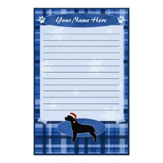 Blue Christmas Pit Bull Stationery