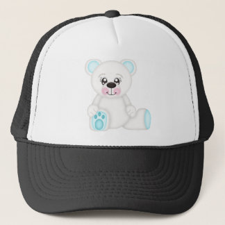 Blue Christmas Polar Bear Trucker Hat