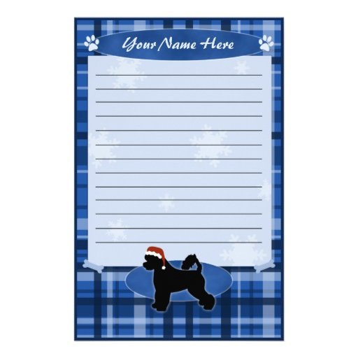 Blue Christmas Portuguese Water Dog Stationery