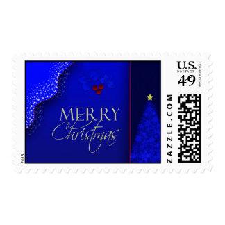 Blue Christmas Postage Stamp