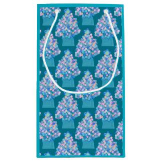 Blue Christmas Small Gift Bag