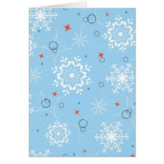 Blue christmas snowflakes greeting card