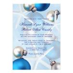 Blue Christmas Starfish Tropical Wedding Invite