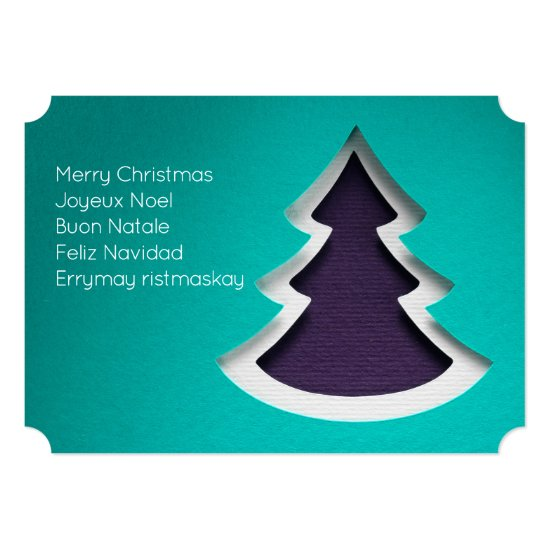 Blue Christmas Tree, 2-sided Photo Card