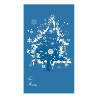 Blue Christmas Tree Christmas Gift Tag Business Card