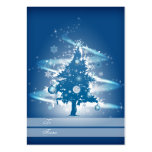 Blue Christmas Tree Christmas Gift Tag Large Business Cards (Pack Of 100)