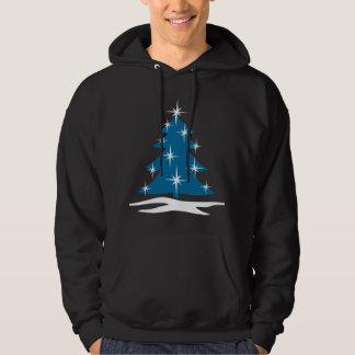 Blue Christmas Tree Hoodie Classic Holiday Shirt