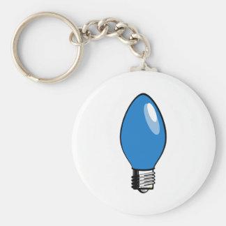 Blue Christmas Tree Light Key Chains