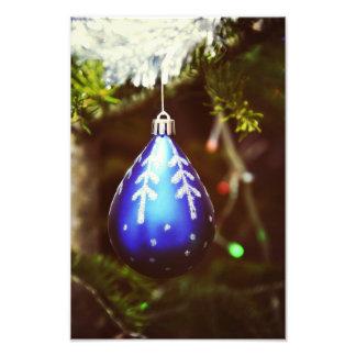 Blue christmas tree ornament art photo